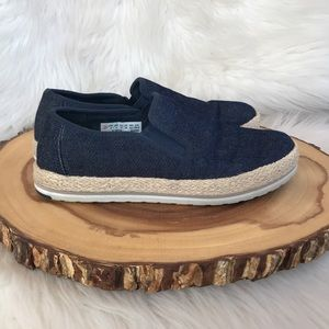 Timberland denim slip on espadrille sneakers